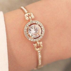 Jewelry - NEW! Adjustable Rhinestone Bangle Bracelet